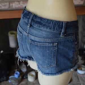 PINK Victoria's Secret Shorts - PINK Victoria's Secret Denim Short Shorts Cut offs